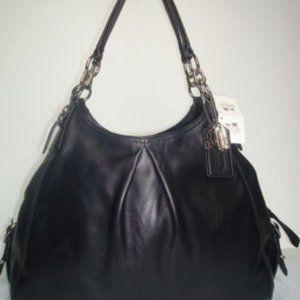 Gorgeous COACH Black  Persimmon Shoulder Bag NWT